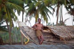Indian fisherman royalty free stock photos