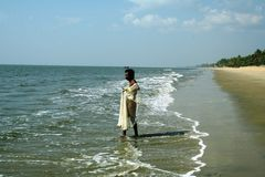 Indian fisherman Stock Photography