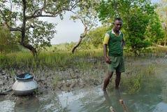 Indian fisherman Royalty Free Stock Image