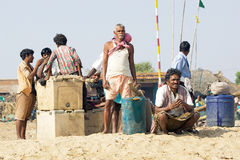 Indian fisherman Stock Image