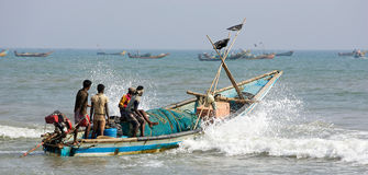 Free Indian Fisherman And Boat Stock Photography - 20921792