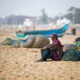Indian fisherman Royalty Free Stock Photo