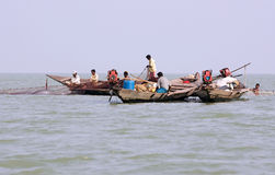 Indian fisherman on the Chilika lake Stock Photography