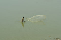 Indian fisherman Royalty Free Stock Photography