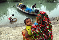 Indian fishermen. Stock Images