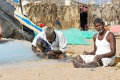 Indian fishermen Royalty Free Stock Photos