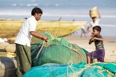 Indian fishermen Stock Image