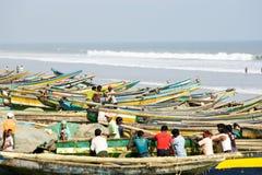 Indian fishermen Stock Photography