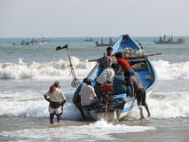 Indian fishermen Stock Image
