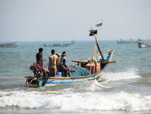 Indian fishermen Royalty Free Stock Photography