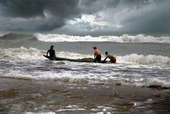 Indian Fishermen Royalty Free Stock Photography
