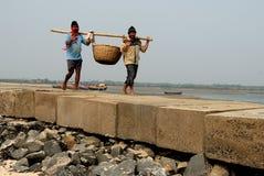 Indian Fishermen Royalty Free Stock Photo