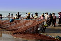 Indian Fishermen Stock Photography