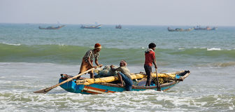 Indian fishermen from Orissa State Stock Photography