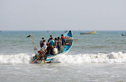 Indian fishermen from Orissa State Royalty Free Stock Photo