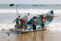 Indian fishermen from Orissa State Royalty Free Stock Images