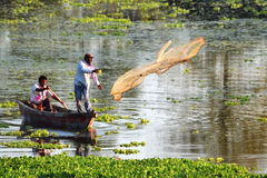 Indian fishermen Royalty Free Stock Photo