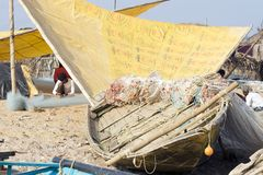 Indian fishing boat Royalty Free Stock Images