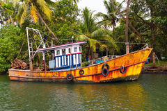 Indian fishing-boat Stock Photo