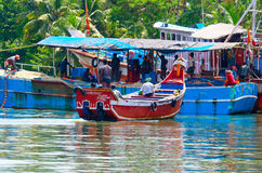 Indian fishing boats  in Kerala Royalty Free Stock Photo