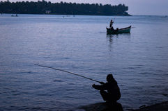 Indian fishing Royalty Free Stock Photography