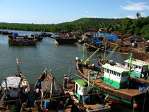 Indian fishing village Royalty Free Stock Photo