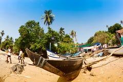 Indian fishing village Stock Photography