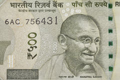 Indian Five Hundred Rupee Note with Mahatma Gandhi Portrait Royalty Free Stock Photos