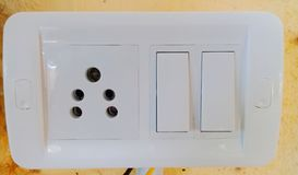 Indian five point switch board royalty free stock image
