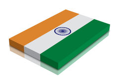 Indian Flag. 3d Render with reflection vector illustration