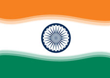Indian Flag. Abstract illustrated indian flag, also vector Stock Photography