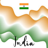 Indian flag and abstract background. Flat  illustration EPS 10.  Royalty Free Stock Photo