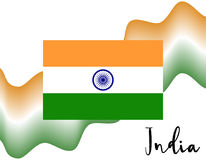 Indian flag and abstract background. Flat  illustration EPS 10.  Stock Photos