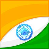 Indian Flag Background. Easy to edit vector illustration of Indian Flag background royalty free illustration