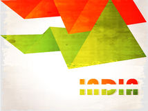 Indian Flag background with Asoka chakra on white Stock Photography