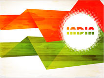 Indian Flag background with Asoka chakra on white Royalty Free Stock Photography