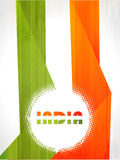 Indian Flag background with Asoka chakra on white  Stock Image