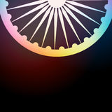 Indian flag background. Colorful dark background of indian flag wheel Royalty Free Stock Photo