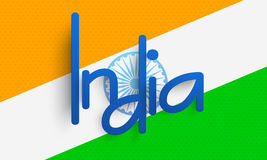 Indian flag background for Happy Republic Day celebration. Royalty Free Stock Photos
