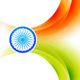 Indian flag background. Vector indian flag backgorund design Royalty Free Stock Image