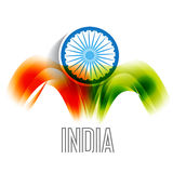Indian flag background. Vector indian flag backgorund design Royalty Free Stock Images