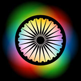 Indian flag background. Vector indian flag wheel on colorful backgorund Stock Image
