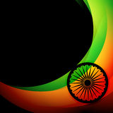 Indian flag background. Wave style indian flag background Royalty Free Stock Photos