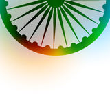 Indian flag background. Indian flag wheel on colorful background Stock Image