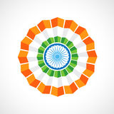 Indian flag badge Royalty Free Stock Photography