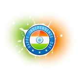 Indian flag badge Stock Photos