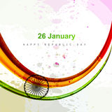 Indian flag  beautiful illustration stylish wave b. Ackground Royalty Free Stock Photography