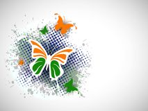 Indian Flag butterfly on creative background. Stock Photography