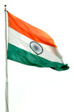 Indian Flag. Camera shot on Indian Flag with isolated background royalty free stock photos