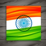 Indian flag card template vector design illustration. Indian flag card template vector illustration Royalty Free Stock Images